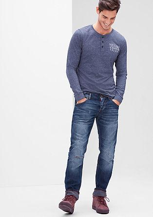 Tubx Straight: jeans hlače z raztrganinami