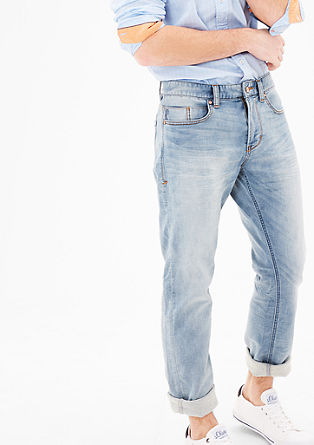 Tubx straight: jeans in een used look