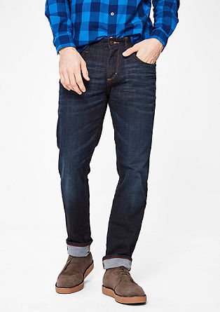 Tubx straight: jeans met crinkle effects