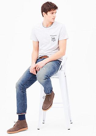 Tubx straight: jeans met een riem