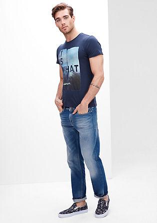 Tubx Straight: Modre jeans hlače v intenzivnem odtenku