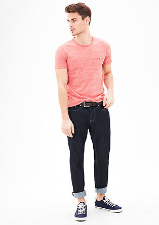 Tubx Straight: raw denim jeans with a belt from s.Oliver