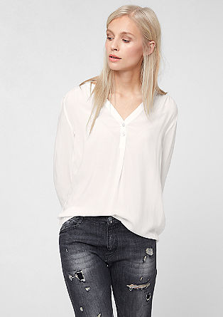 Tunic blouse in pure viscose from s.Oliver