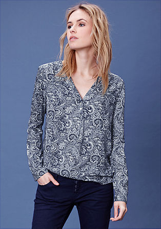 Tunic blouse with a geometric print from s.Oliver