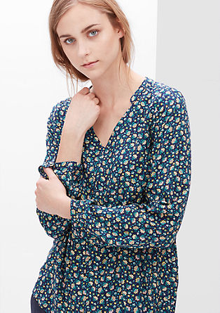 Tunic blouse with an all-over pattern from s.Oliver