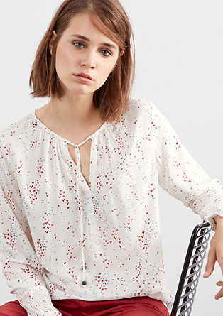 Tunic blouse with an all-over print from s.Oliver