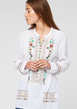 Tunic with ethnic embroidery from s.Oliver