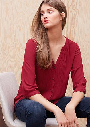 Tunika-Bluse mit Biesen