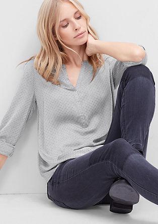 Tunika bluza z vzorcem s teksturo