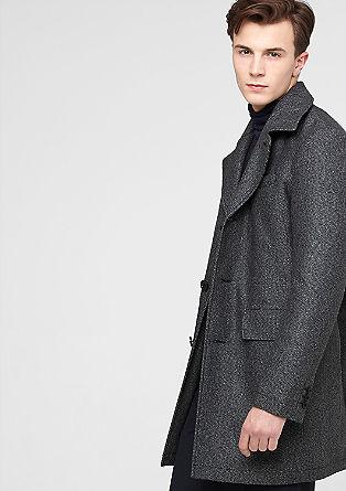 Tweed mantel van een wolmix