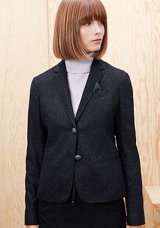 Tweedblazer mit Schmuckknöpfen