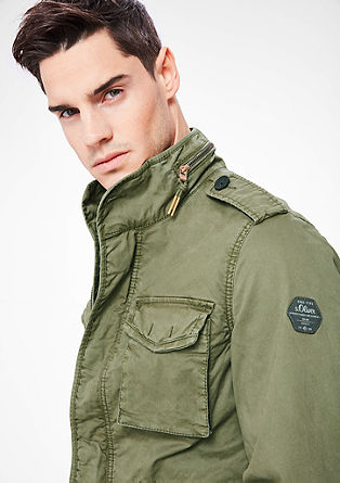 Twill-Jacke im Military-Look