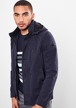 Twill jacket with a hood from s.Oliver