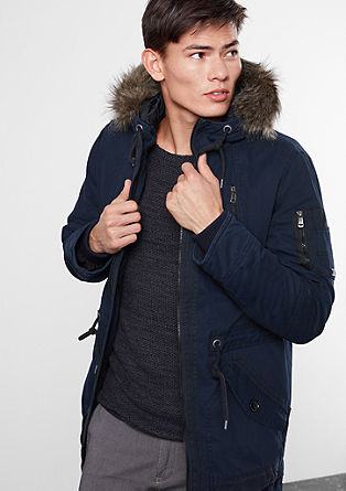 Twill parka with fake fur from s.Oliver