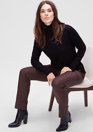 Twill trousers in a business look from s.Oliver