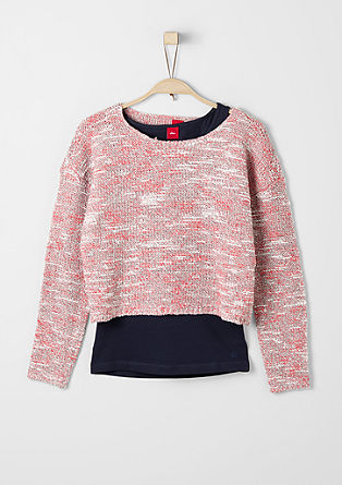 Two-in-One: Pullover und Top