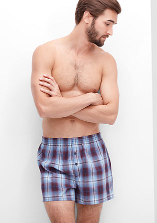 Two pairs of check boxer shorts from s.Oliver