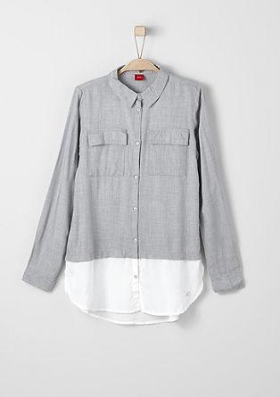 Two-tone blouse met een laagjeslook