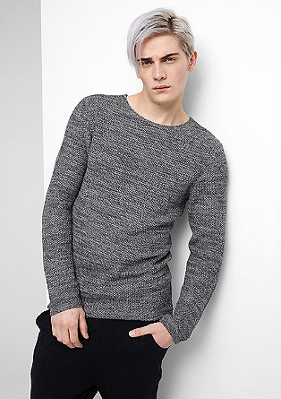 Two-tone knit jumper from s.Oliver