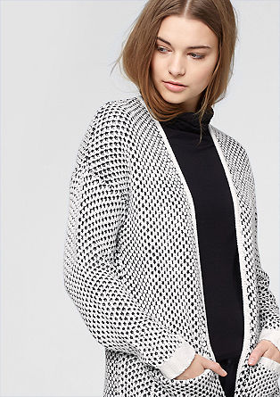 Two-tone long cardigan from s.Oliver