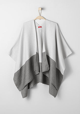 Two-tone poncho from s.Oliver