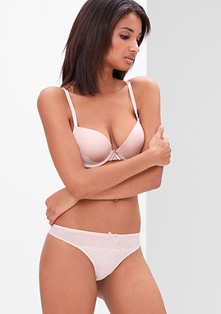 Two-tone thong with lace from s.Oliver