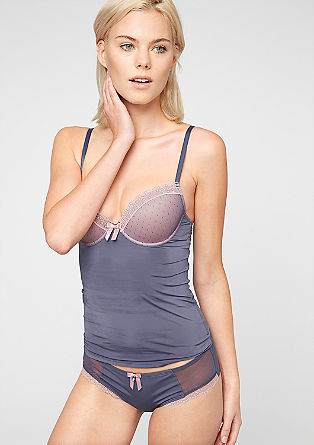 Two-tone top with a cup bra from s.Oliver