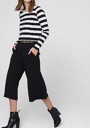 Udobne hlače culotte iz krepa