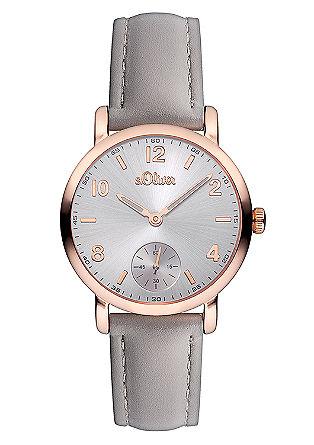 Uhr IP Rosé mit Lederband
