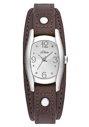 Uhr mit markantem Lederarmband