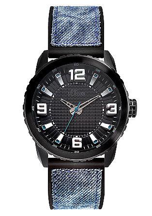 Uhr mit Textil-Silikonband