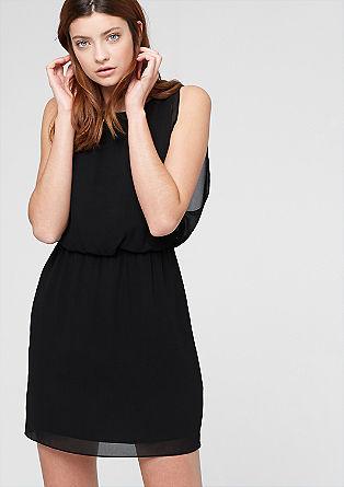 Uitlopende jurk van chiffon