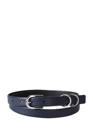 usnjen pas s kovinskimi obročki