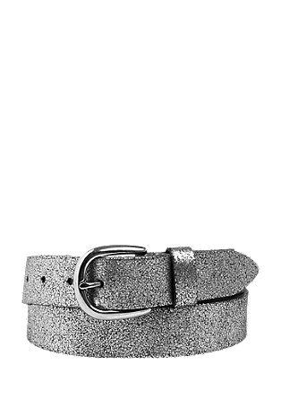 Usnjen pas s srebrnim vzorcem