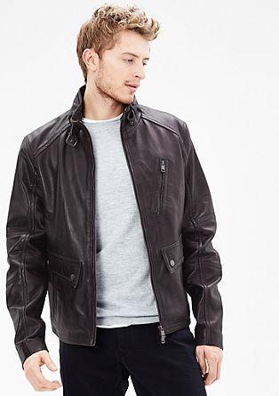 Usnjena jakna z zaključkom vintage