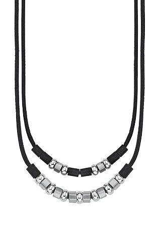 Usnjena ogrlica iz mešanice materialov