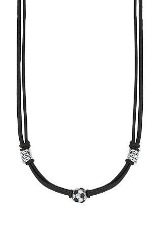 Usnjena ogrlica z obeskom v obliki nogometne žoge