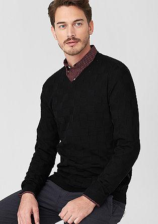 V-neck blended wool jumper from s.Oliver