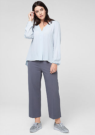 V-neck blouse in a mix of materials from s.Oliver