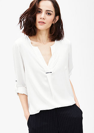 V-neck blouse with jewel detail from s.Oliver