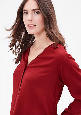 V-Neck-Bluse aus Modal