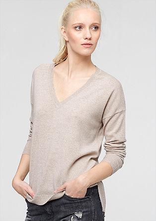 V-neck jumper with cashmere from s.Oliver