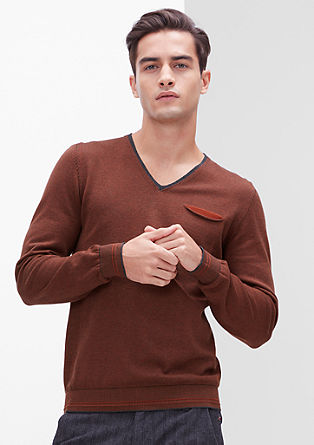 V-neck jumper with stripes from s.Oliver