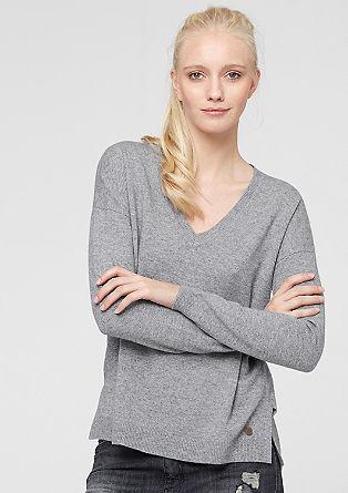 V-Neck-Pullover mit Kaschmir