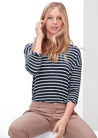 V-neck ribbed top from s.Oliver