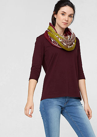V-neck top with lace from s.Oliver