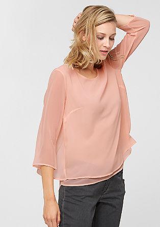 Večplastna bluzna majica s 3/4 rokavi