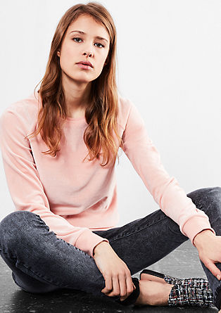 Velour raglan sweatshirt from s.Oliver