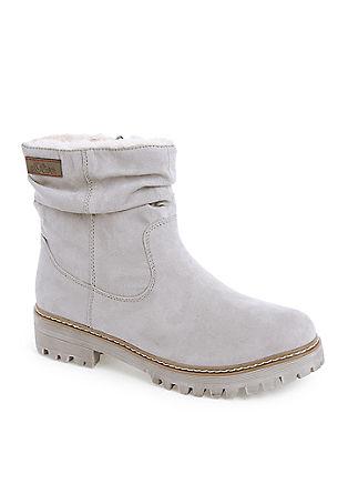 Velours-Boots mit Plüschfutter