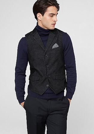 Velvety corduroy waistcoat from s.Oliver